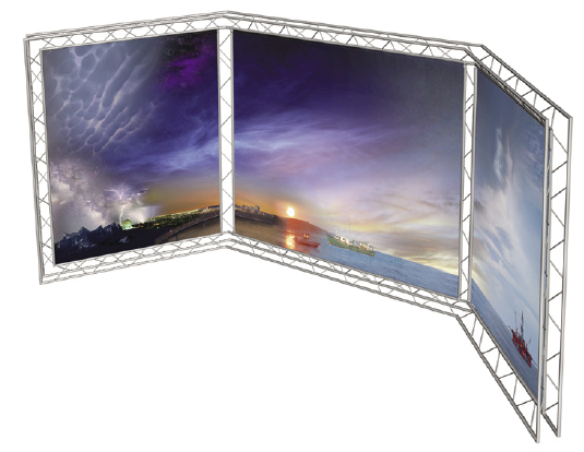 Exhibition Stand Panels : Truss degree system backdrop