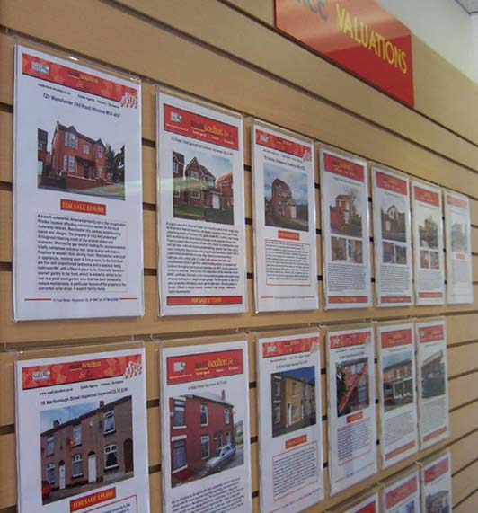 Slatwall Portrait Poster Holders Gondolas Slatwall